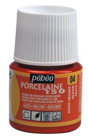 Pebeo Porcelaine 150 Fırınlanabilir Porselen Boyası 45 ml Agate Orange