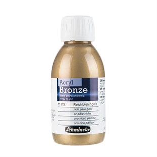 Schmincke Acrylic Bronze Metal Akrilik Boya 150 ml 822 Rich Pale Gold