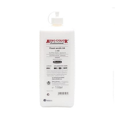 Schmincke Aero Color Akrilik Mürekkep 1000 ml 101 Supra White Opaque
