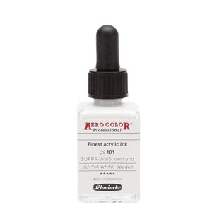 Schmincke Aero Color Akrilik Mürekkep 28 ml 101 Supra White Opaque