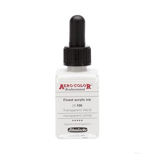 Schmincke Aero Color Professional Akrilik Airbrush Mürekkebi 28 ml 100 Transparent White