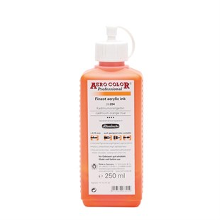 Schmincke Aero Color Professional Akrilik Airbrush Mürekkebi 250 ml 204 Cadmium Orange Hue