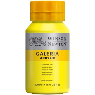 Winsor Newton Galeria Akrilik Boya 500 ml LEMON YELLOW HUE 346