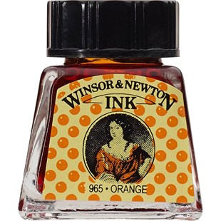 Winsor & Newton Drawing Ink Çini Mürekkebi 14 ml Şişe 449 Orange