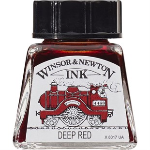 Winsor & Newton Drawing Ink Çini Mürekkebi 14 ml Şişe 227 Deep Red
