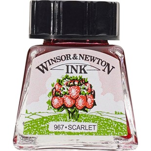 Winsor & Newton Drawing Ink Çini Mürekkebi 14 ml Şişe 601 Scarlet
