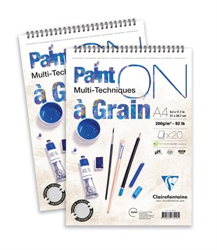 Clairefontaine Paint on a Grain Çizim Blok A3 200gr 20 Yaprak